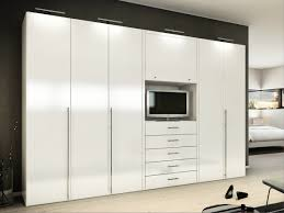 Bedroom Wall Unit Closets Bedroom Ideas Furniture Mesmerizing White High Gloss Built In