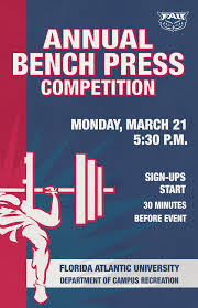 fau bench press competition on behance