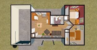 awesome one bedroom house floor plans in one bedro 1024x1024