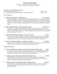 Sample Resume For Mechanical Design Engineer by Plastic Product Design Engineer Resume Virtren Com