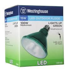 Outdoor Cfl Flood Lights Westinghouse Par38 15 Watt Replaces 100 Watt Medium Base Green