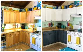 Painting Pressboard Kitchen Cabinets by Painting Kitchen Cabinets Before After Voluptuo Us