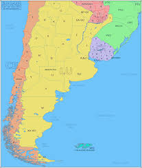 Physical Map Of South America by Amateur Radio Prefix Map Of Southern South America