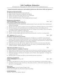 maintenance resume samples resume examples hotel maintenance       maintenance technician resume sample