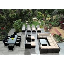 Wicker Outdoor Furniture Sets by Amazon Com Ohana 20 Piece Outdoor Wicker Patio Furniture
