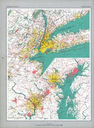 New York Map Us by The National Atlas Of The United States Of America Perry