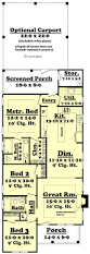 Split Level Ranch Floor Plans Small Cottage Style House Plan 3 Beds 2 Baths 1300 Sq Ft Plan