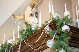 christmas decorating ideas for a rustic glam mantel