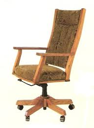 Upholstered Swivel Desk Chair by Amish Upholstered Swivel Mission Office Chair With Gas Lift