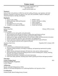 Pipefitter Resume Example by Mig Welder Resume Sample Contegri Com