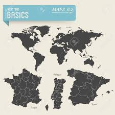 Map Of France And Spain by Worldmap And Detailed Maps Of France Portugal And Spain Royalty