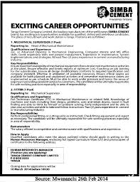 Office Engineer Job Description Mechanical Supervisor Fitter Tayoa Employment Portal