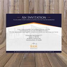 New Office Invitation Card Elegant Serious Invitation Design For Barratt Asset Management By