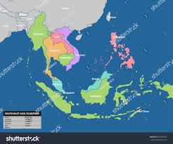 Southeast Map Southeast Asia Map Stock Vector 565752358 Shutterstock