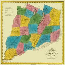 Ny County Map Old County Map Otsego New York Landowner Burr 1829