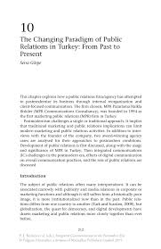 the changing paradigm of public relations in turkey from past to