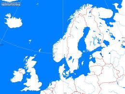 Blank Physical Map Of Russia by North Europe Outline Map A Learning Family