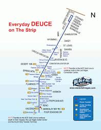 Vegas Monorail Map The Deuce Las Vegas Map Virginia Map