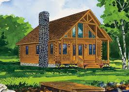 Log Cabin With Loft Floor Plans Black Fork By Hochstetler Milling An Amish Company In Oh 1br