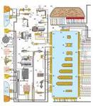 Схема электродвигатель вентилятора системы охлаждения двигателя 21101