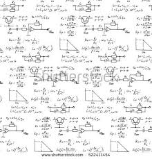Physics  electronic engineering  mathematics equation and calculations  endless hand writing  Vector whiteboard Shutterstock