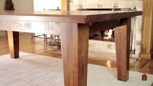 Barn Furniture Rustic Timber Dining Table YouTube - Timber kitchen table