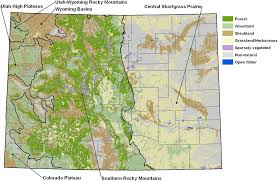Map Of Colorado by Cnhp Ecology Team Page