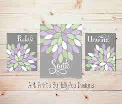 Wall Art Ideas For Bathroom by Purple Bathroom Wall Art Shenra Com