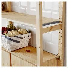 ivar 2 section shelving unit w cabinet 68 1 2x19 5 8x70 1 2