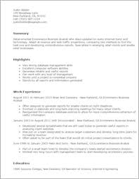 Ecommerce Resume Sample by Business Resume Templates To Impress Any Employer Livecareer