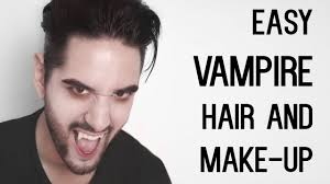 cheap and easy vampire look hair and make up halloween men u0027s
