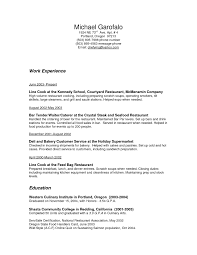 resume bar manager resume for your job application