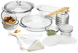 amazon com anchor hocking expressions glass cookware 33 piece