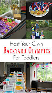 host your own backyard olympics for toddlers the good mama