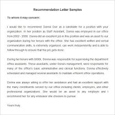 Resume Example  Good Sample Reference Letter for Intern Reference