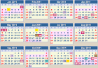 CALENDAR 2011: School terms 2011 and school holidays 2011 South Africa