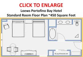 loews portofino bay hotel standard room floor plan playuna