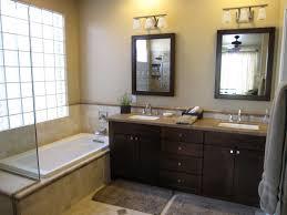 bathroom decoration using dark brown mahogany maple bathroom