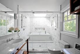 smart design a bath tub inside a marble shower oh what a very