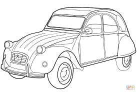 Old Ford Truck Coloring Pages - citroën 2cv coloring page free printable coloring pages