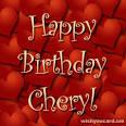 Happy Birthday Cheryl!! :)