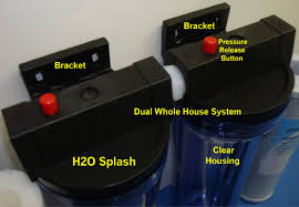 house filter with bracket dual 10
