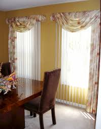 swags over vertical blinds soften up those vertical blinds