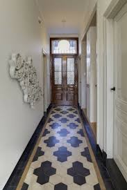 love this for the small powder room creative tile flooring