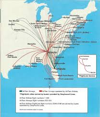 Greyhound Routes Map by Airline Maps