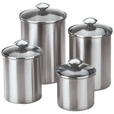 kitchen canisters stainless steel home
