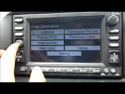 2005 honda crv sat nav youtube