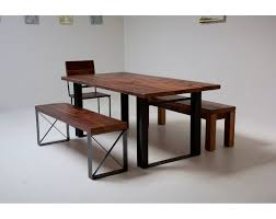 reclaimed wood and metal dining table with design ideas 7039 zenboa
