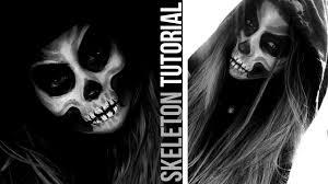 skeleton makeup easy halloween tutorial danielle mansutti