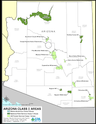 Map Of Arizona by Arizona Federal Class 1 Areas Maps Air Quality Analysis